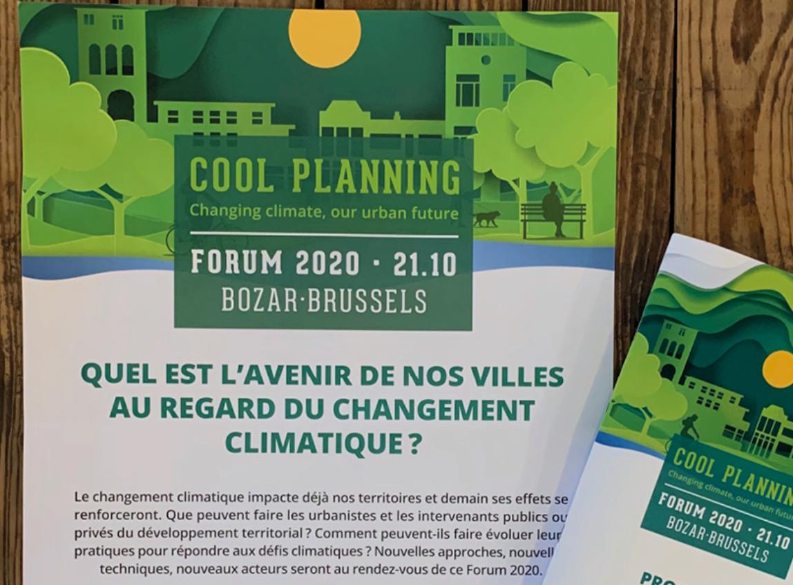 Présente au forum «Cool planning» ! – Bozar Brussels